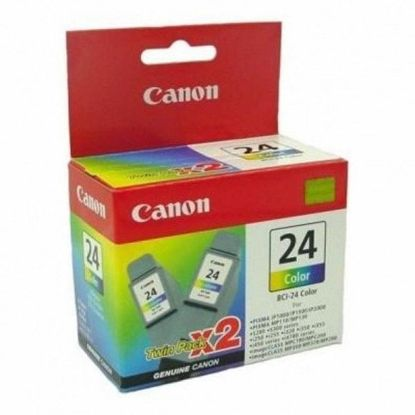 Зображення Картридж Canon BCI-24 color  (twin pack) для S200/200х/300/330Photo, i250/i320/i350/i450/i455/475D, SmartBase 190/200/MP360/370/390, PIXMA iP1000/iP1500/iP2000, PIXMA MP110/MP13