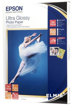 Изображение Бумага Epson 130mmx180mm Ultra Glossy Photo Paper, 50л.